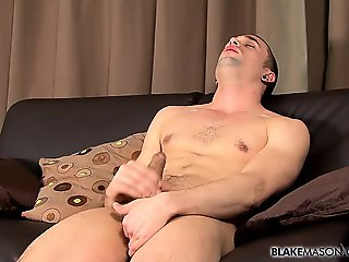 Fit gay guy Chase Reynolds arrives for an interview and his