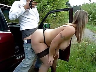 Busty Hooker Sucking and Fucking on the Road BVR