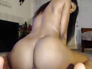 Black girl, big tits pounds pussy with toy n squirts big