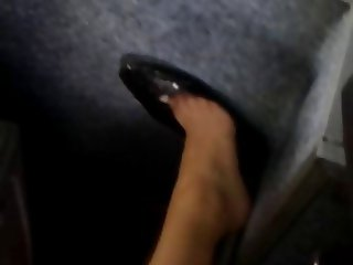 Shoeplay in a bus