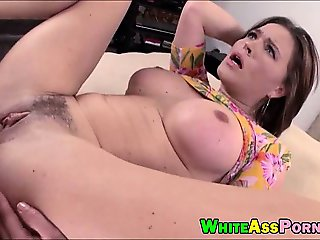 Bubble butt slut Krissy Lynn banged in her asshole deeply