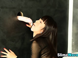 Fetish asian hoe gets bukkaked