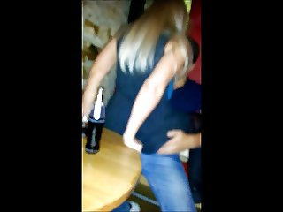 Fucking bareback with a guy in the disco