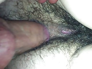 Fucking her hairy ass