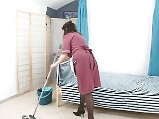 boy fuck hairy mature maid