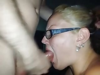 Husband films freind jerking in his Wife's mouth