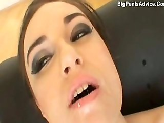 Feeding with big cock and facial this latina