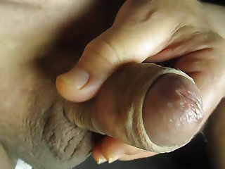 68 yrold Grandpa #138 mature cum close closeup wank uncut