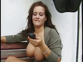 busty german milf sandra outdoor fuck