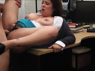 Married honey decides to fuck with the pawn owner for cash