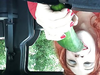 Shayna Sucking A Cucumber
