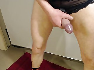 Jerk off in wife Panty and cum