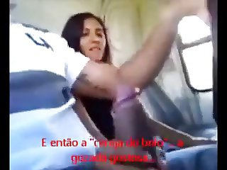 amateur handjob in a bus