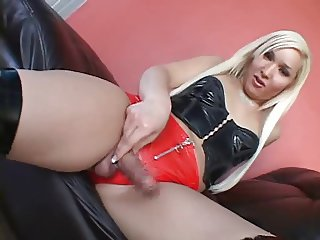 Blonde Shemale Fucked Hard