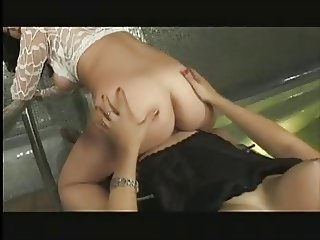 Blonde shemale fuck brunette girl with nice tits