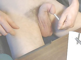 Urethral sounding - hiding 3 small steel rods in my penis