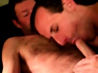 Gaysex mature bear drools on cock