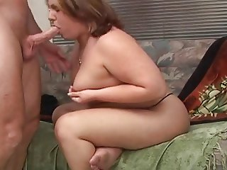 Chubby girl fucked and facialized