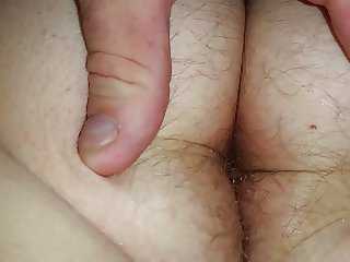 wifes big white hairy asshole & asscrack after shower