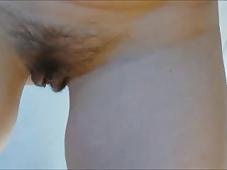 unaware wife's hairy pussy close and in detail