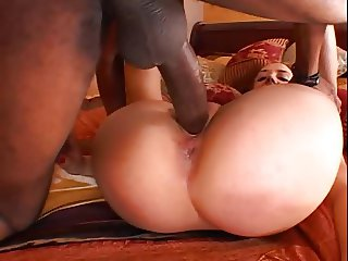 German girl has no gag reflex. Gets BBC in every hole.