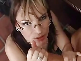 MILF with glasses takes it in pussy and ass