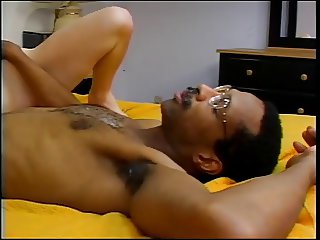 Sexy young blonde loves sucking and fucking a huge black cock full of cum