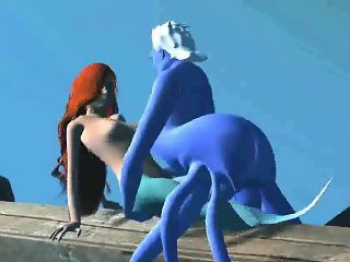 3D Ariel gets fucked hard by Ursula underwater