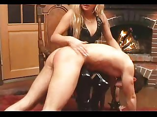 Russian Mistress footworship and spanking