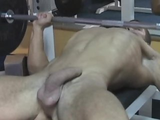 GYM RATZ JERK OFF  !  !  !