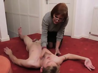 Uniformed chicks learn how to tug