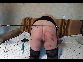 Plump bum caned