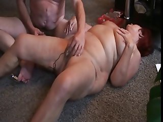 Husband masturbates wife with dildo and orgasm