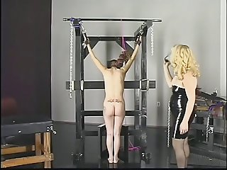 Gorgeous latina gets spanked and dominated by bleached blonde slut