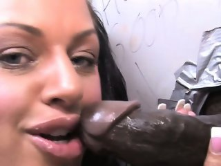 Glory hole creampie slut