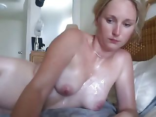 Blond young wife fucks and cum shot
