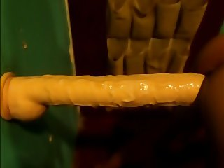 Again fuck with my monster dildo in stand up