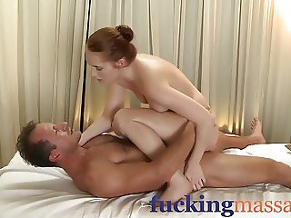 Massage Rooms Horny young girls get fucked hard and covered