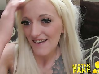 MisterFake Agent finds silent sex with petite blonde