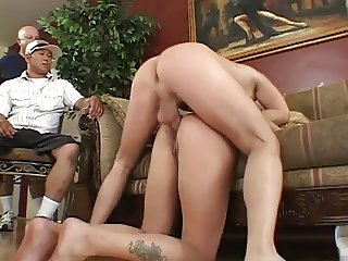 Cheating MILF Gets Anal in Front of Husband
