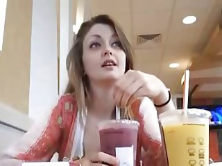 Beautiful Teen Horny At McDonald's