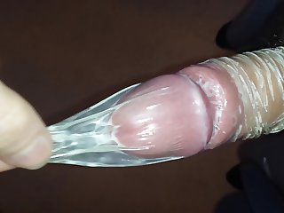Skinny Teen Playing with Dirty Old Condom
