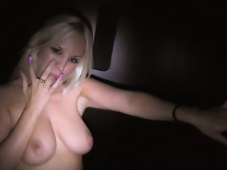 Gorgeous Blondie Fesser enjoys being surrounded by cocks