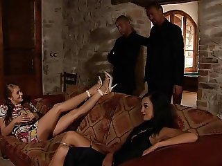 FOURSOME 2 TEENS 2 OLDER GUYS