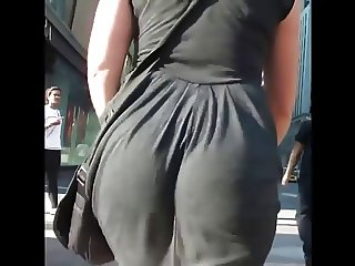 Sexy Black Dress Jiggle Booty