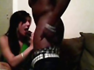 Exhibitionist interracial couple