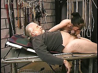 Cute young girl with shaved pussy and tight asshole gets inspected by master