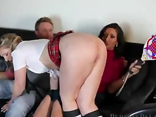 bitch spanking her daughter in front of levi