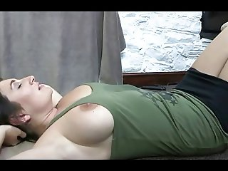 Boob Falls Out While She's Doing Sit Ups