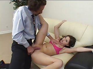 Young Babe Spreads Her Legs For Her Boss